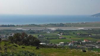 Αρχαία Ορυχεία Μυτιληνιών. Θέα του αεροδρομίου