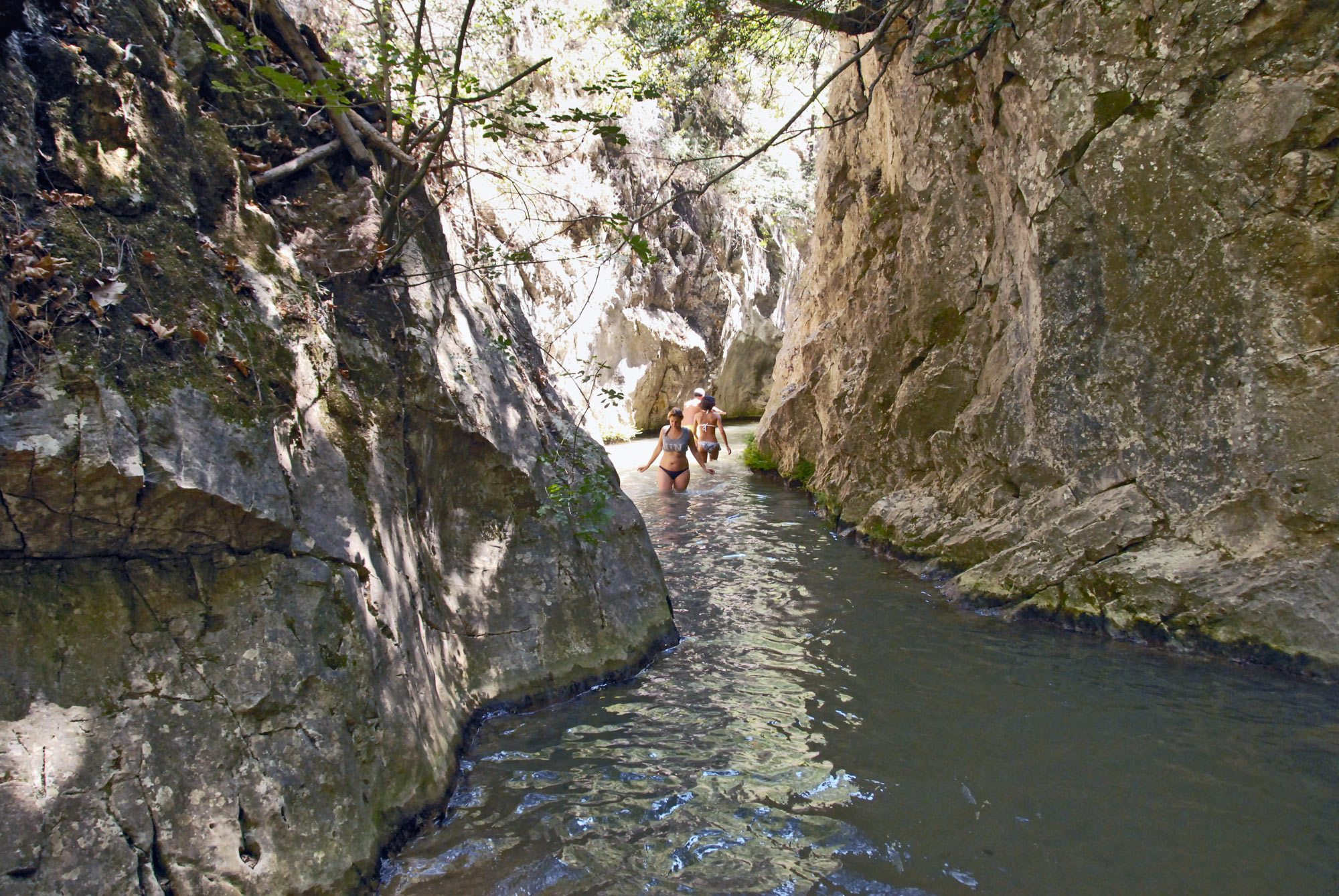 Waterfalls in Potami Samos