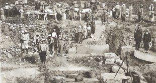 Εργασίες ανασκαφής στα θεμέλια του αρχαίου ναού της Ήρας - Ancient Temple of Hera