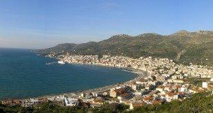 Samos town panorama
