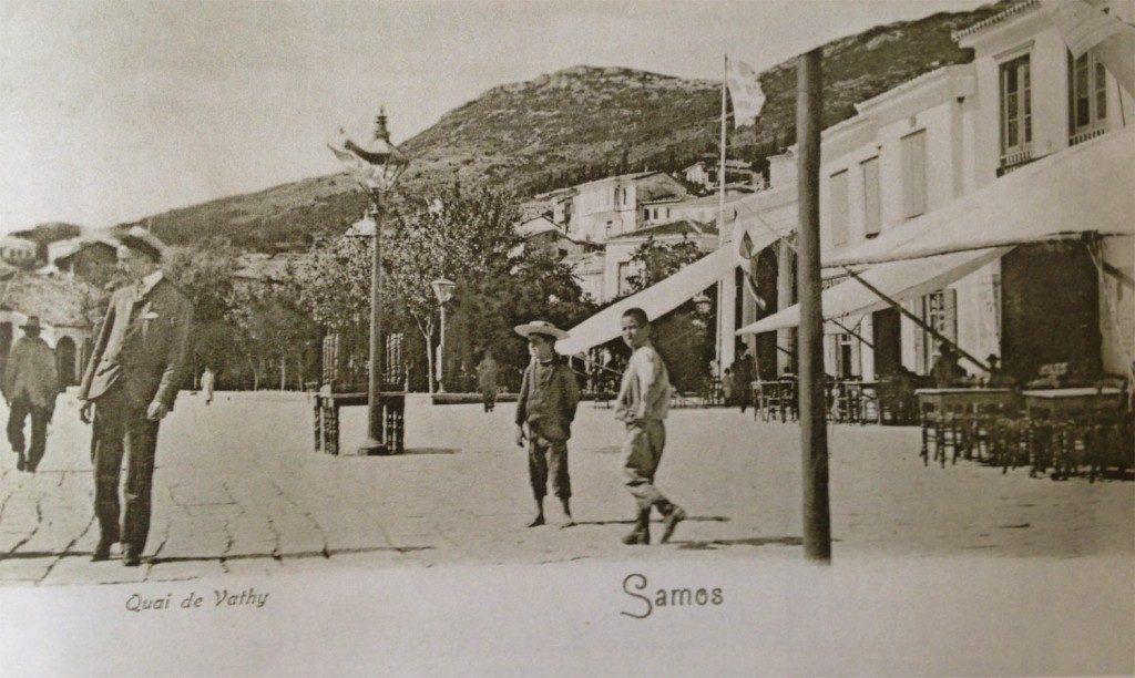 Τα κεντρικά καφενεία της Πλατείας Πυθαγόρα (1902-1904) - Pythagoras Square