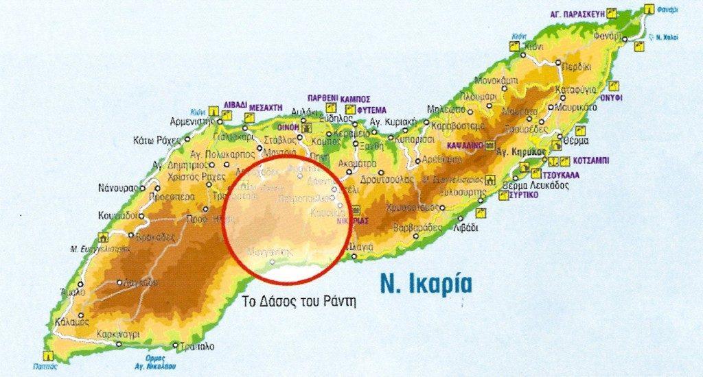 Χάρτης του δάσους Ράντη