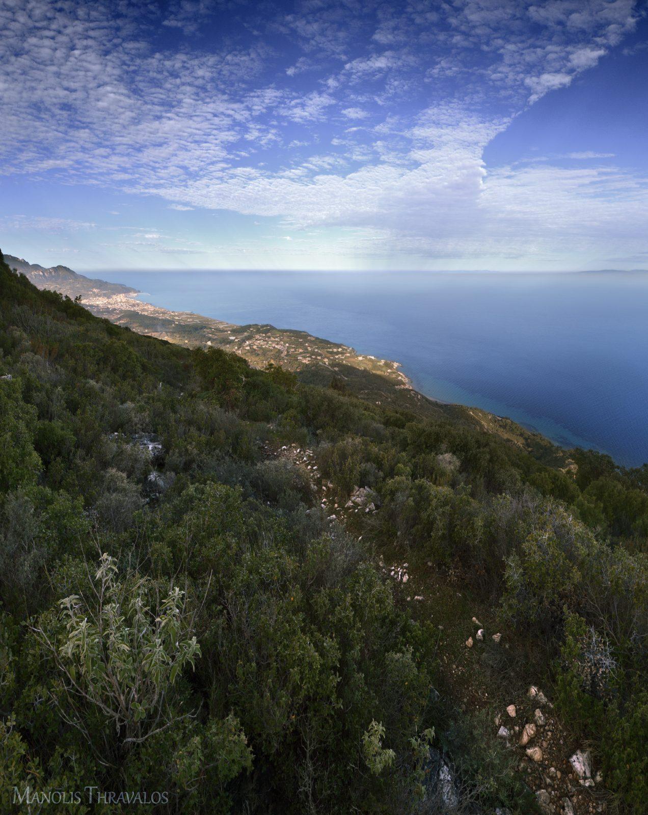 Θέα από την ΒΔυτική διαδρομή με μυρωδιά φασκόμηλου