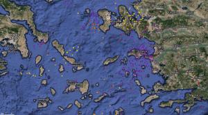Χάρτης ηλεκτρικών εκκενώσεων το τελευταίο 24ωρο - Storm