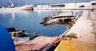 Η μαούνα στο λιμάνι της Σάμου