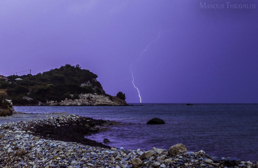 Καταιγίδα - Κεραυνός από τις Μαούνες
