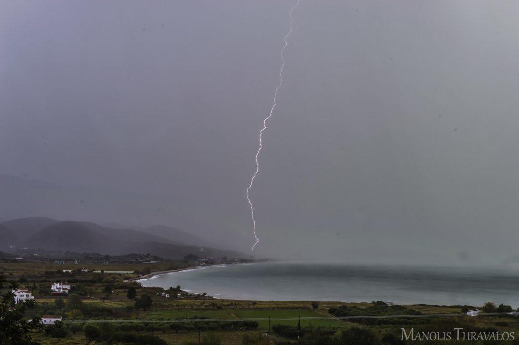 Καταιγίδα - Κεραυνός στον Μεσόκαμπο